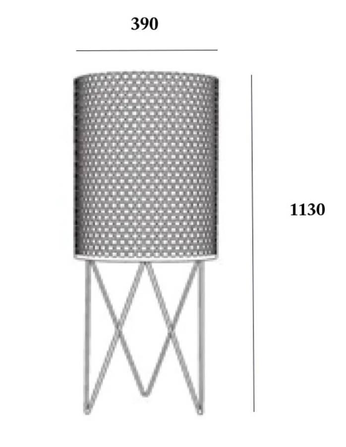 Gubi - Pedrera PD2 Gulvlampe - Sort